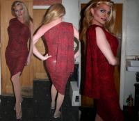 Black and Red one shoulder Dress