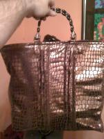 Copper Alligator Hand Bag
