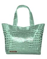 The Monroe Tote - Blue Croc