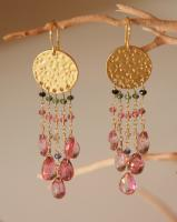 Tourmaline & Mystic Quartz Earrings
