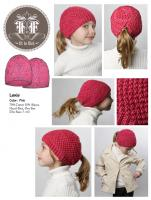 """Lexi"" Girl's Knit Ponytail Hat"