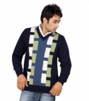 monte carlo navy v neck pullover