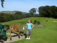 Casual golfing look