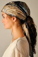 """Miss Lilly"" Silk Scarf Ponytail Hat"