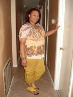 Yellow cargo pants with matching gladiator sandals