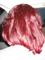 My Crimson Red hair in layers