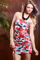 Floral cotton/spandex dress from Amiclubwear