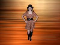 1970s romper mini dress