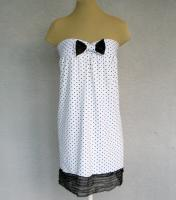 Polka Dots Strapless Mini Dress Cover Up