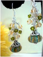 Lampwork Crystal Earrings