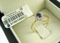 Classic ring with sapphires and diamonds - handmade by Impressimo
