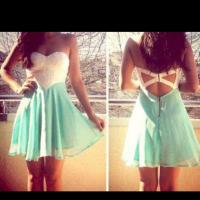 Block color summer dress