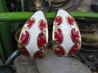 Red Rain Earrings