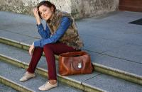 New post: Burgundy jeans