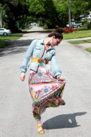 OOTD: Zara Paisley Print Maxi w/ denim jacket