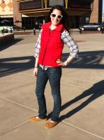 Old Navy Red Puffer Vest