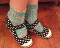 Black and White Polka Dot Wedge Sneakers