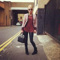 A day shopping in London leather & clashing prints