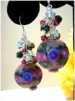 Trol Lampwork Crystal earrings by HSH