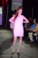 Pink Cowl Neck Skirt