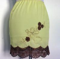 Skinny Mini - Vintage 60's Yellow Mod Mini Half Slip With Embroidery