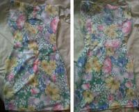 My backless floral dress