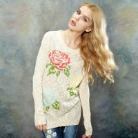floral knitted sweaters