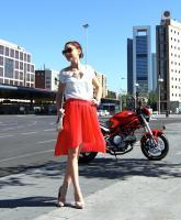 New Post: Asymmetric skirt
