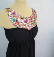 Black Dress With Detachable Beaded Yoke