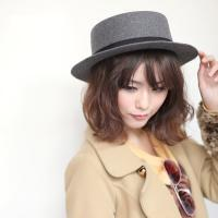 New Arrival Gray Vintage Style Cute Bow Hat