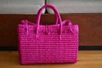Pink Straw Basket