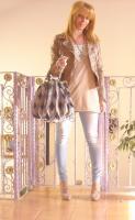 Annarita N Studded Leather Jacket