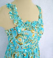 Turquoise Chiffon Party Dress