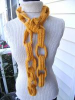 My Gold Crochet Chain Link Scarf