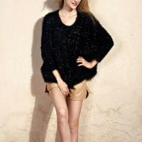 2012 New Arrival Loose Batwing Sleeve Round Neck Oversized Sweater