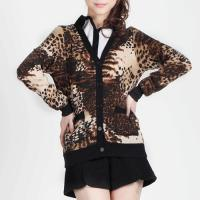 2012 Fall New Fashion Sexy Leopard Print Leisure Cardigan Brown