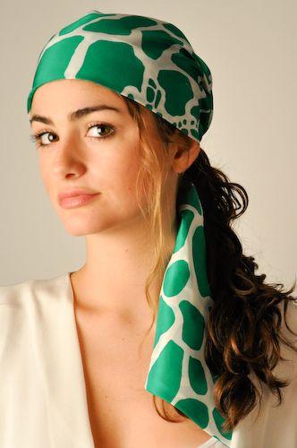 """Miss Lilly"" Silk Scarf Ponytail Hat"