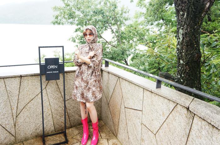 Stylish rain jacket