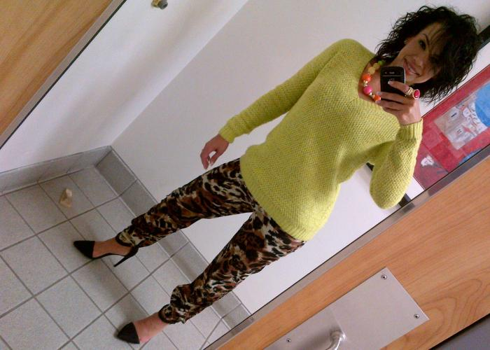 Today's Look: Neon & Leopard!