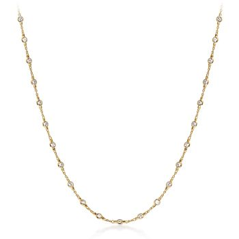 SparklesForever - CZ by the Yard Gold Necklace