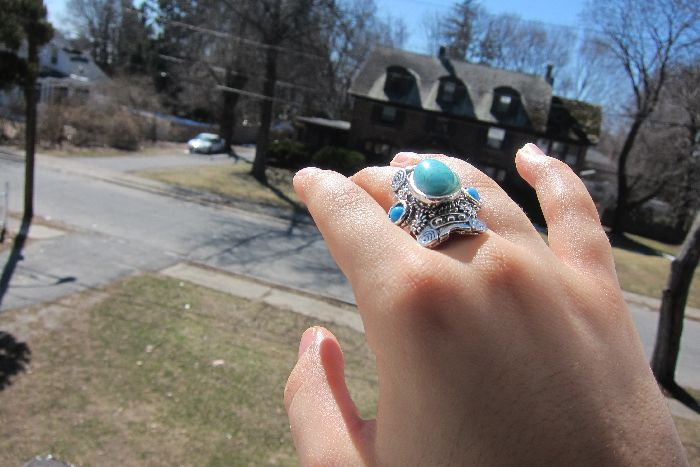 indian stone ring