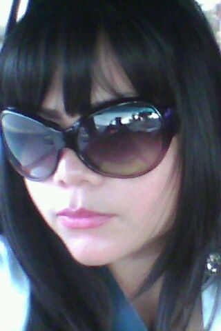 Bangs and my favorite DKNY Sunglasses