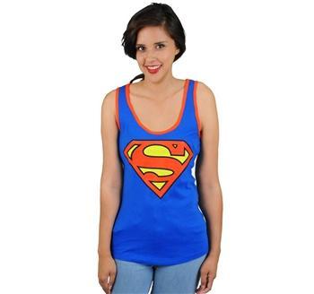 Superman Shield Ladies Racerback Tank Top