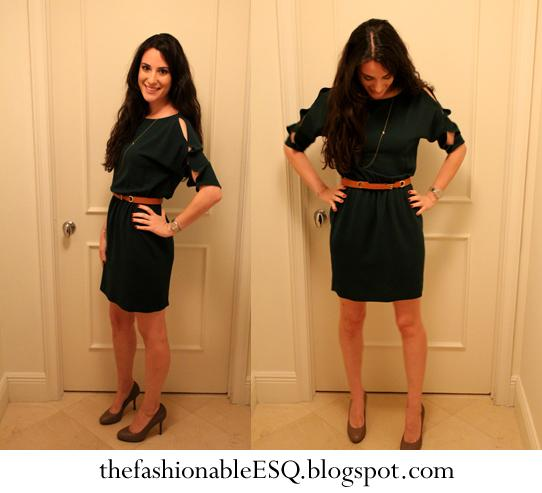 Hunter Green Zara Dress