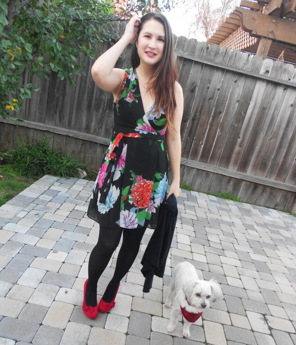 Flowers & Red Shoes