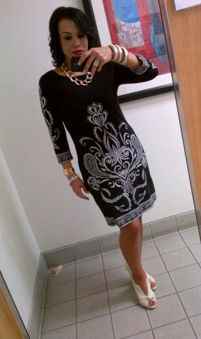 Today's Look: Black & White Dress...All In One!