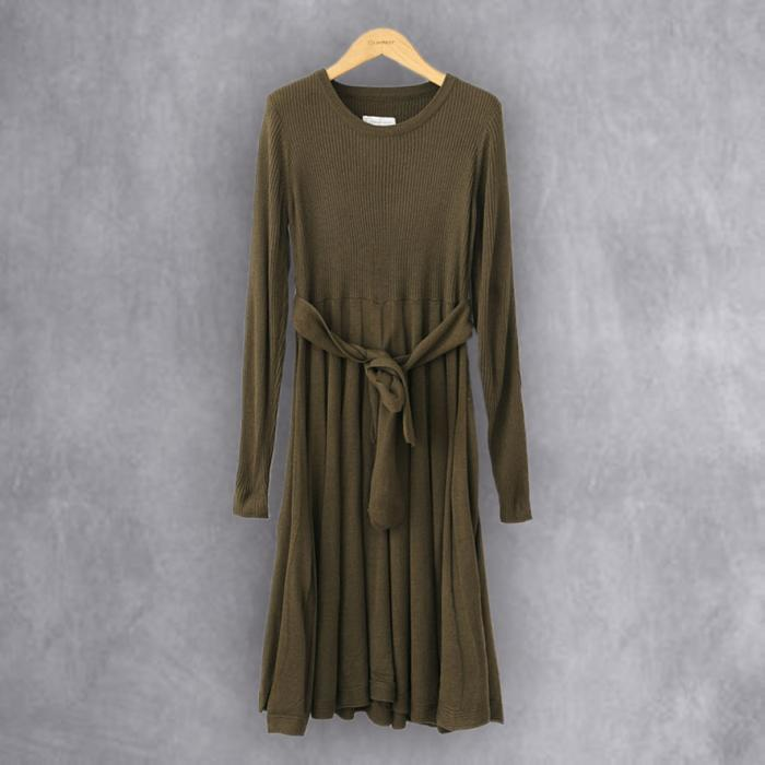 Knitted Brown Dress