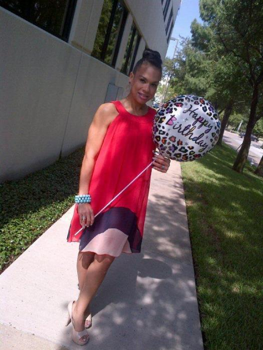 Today's Look: Color Block Dress & Guess Who's B-day?