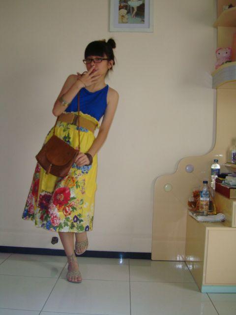 yellow spring skirt