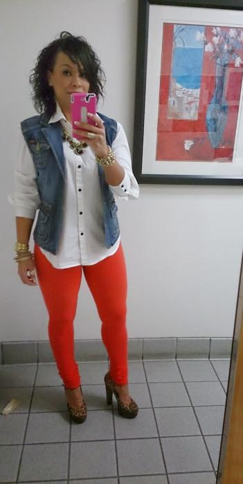 Today's Look: The Colored Jeans or Jegging!